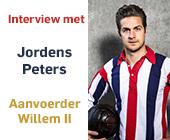 Interview met Jordens Peters – Aanvoerder Willem II